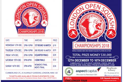 London Open Squash Tournament